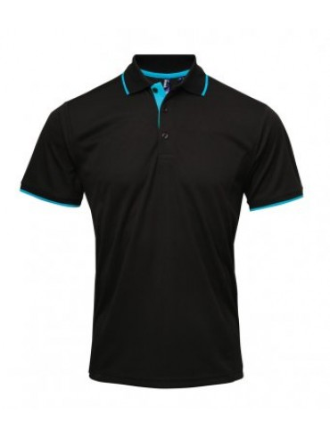 PR618 Premier Contrast Coolchecker Polo Shirt