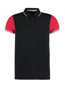 K415Kustom Kit Contrast Tipped Pique Polo Shirt
