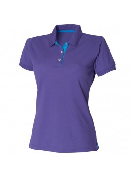 HB421 Women's contrast 65/35 polo