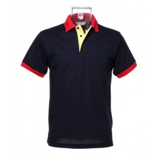 KK404 Contrast collar and placket polo